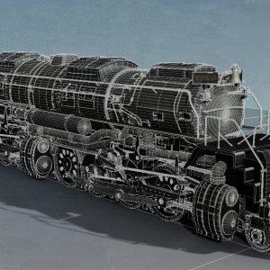 3DModel_BigBoyLocomotive_Wireframe